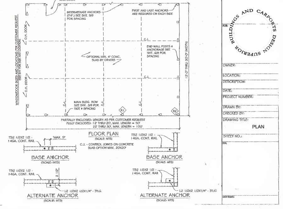 Building Plans. 1-866-943-2264.