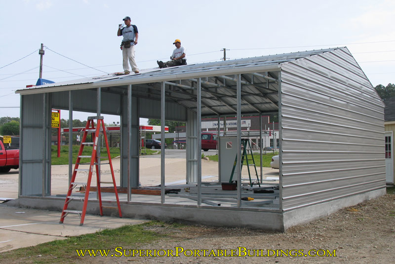 South Carolina carports assembly photo