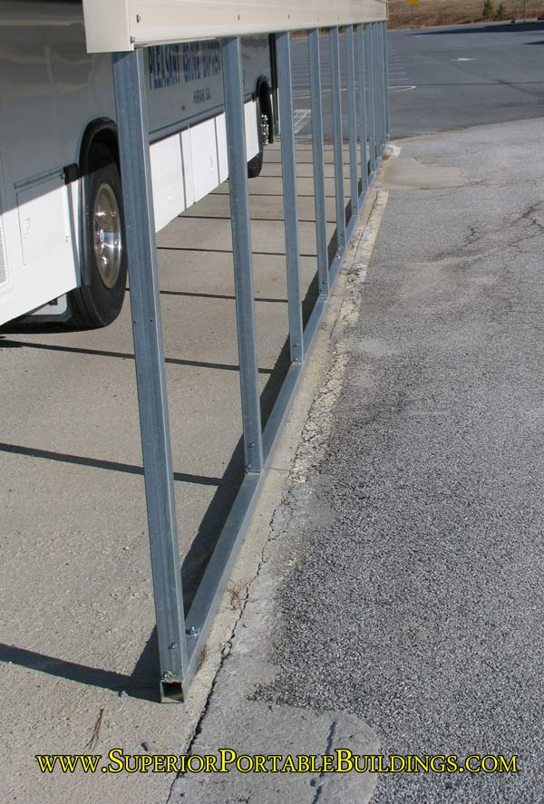 Carport frame rail