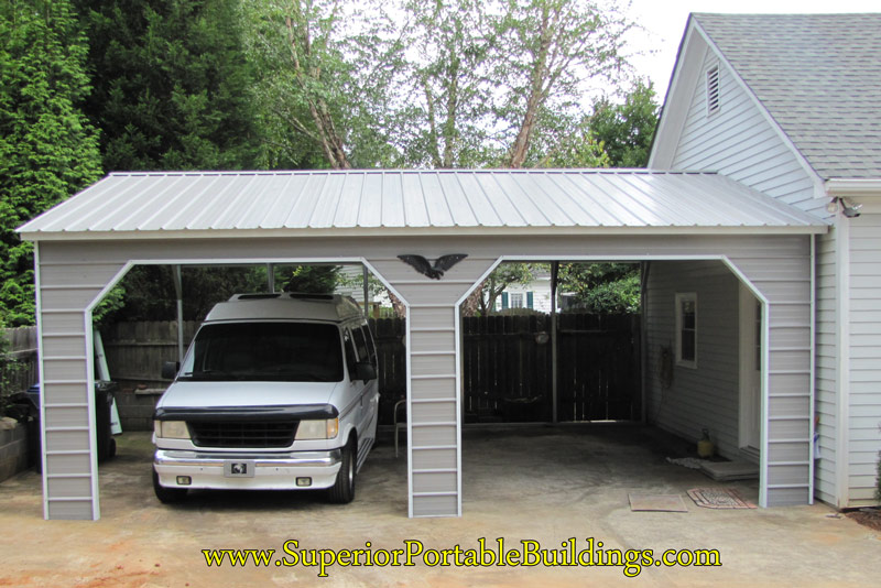 To enter the carport from the side, we install a welded header and ...
