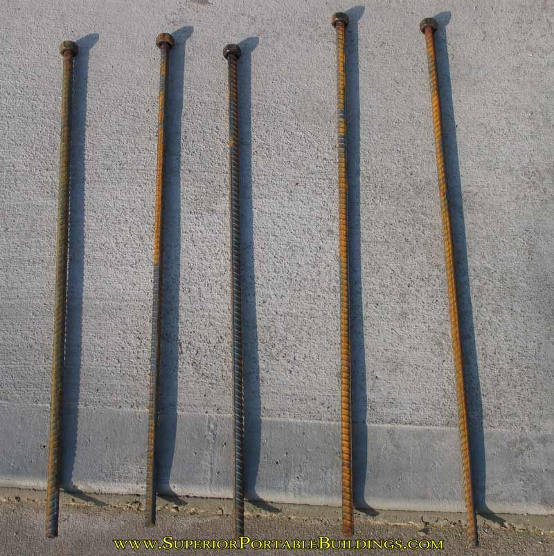 Free rebar anchors for dirt
