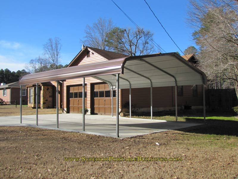 Portable Aluminum Carports Off Side Of House : Value carport