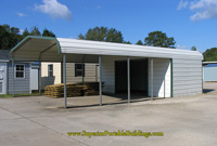carport with utility storage area