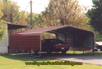 Carport with extra side panel