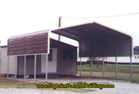 24 x 21 carport with 1 side panel