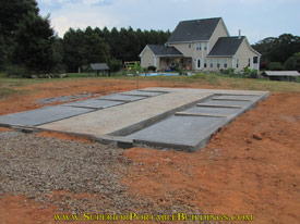18 wide by 30 long p17 dog kennel concrete slab