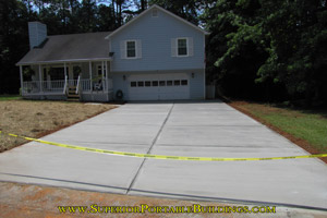 Concrete driveway replacement project 1