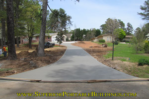 Concrete driveway replacement project 3