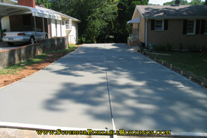 Concrete driveway replacement project 5
