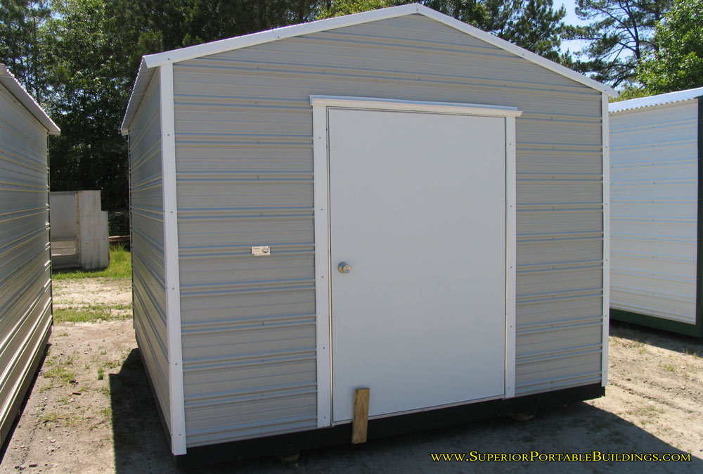 10 X 12 X 7 Grey And White Portable Building.