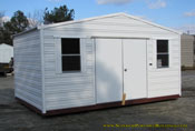 10 x 16 metal georgia portable building white with white trim