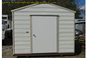 10 x 24 georgia portable building cream and beige long roof