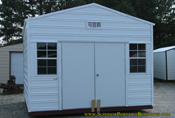 12 x 12 x 8 Ga portable building white and white