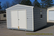 12 x 16 grey and cream long roof double door