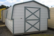 10 x 16 barn white with gray trim