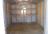 Inside a 10 x 12 portable building