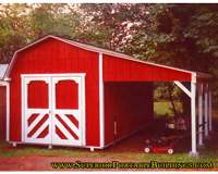 10 x 16 barn with lean to