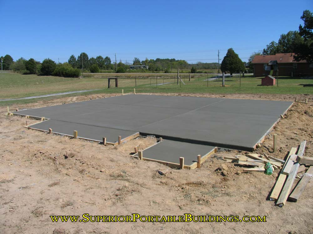 Finished concrete pad
