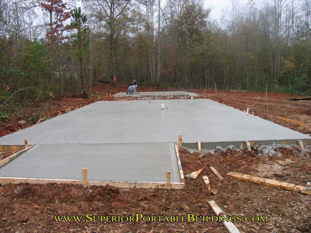 How to make a concrete slab and level your building area for Building a house on a slab