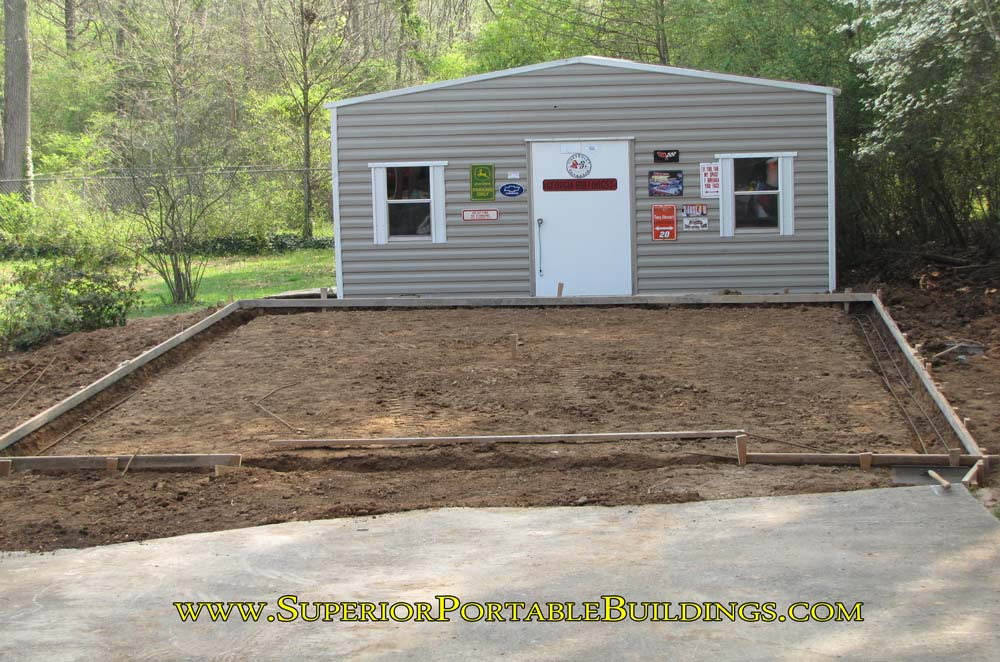 How to make a concrete slab and level your building area for Garage slab thickness