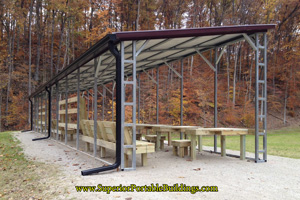 Shooting shelter awning
