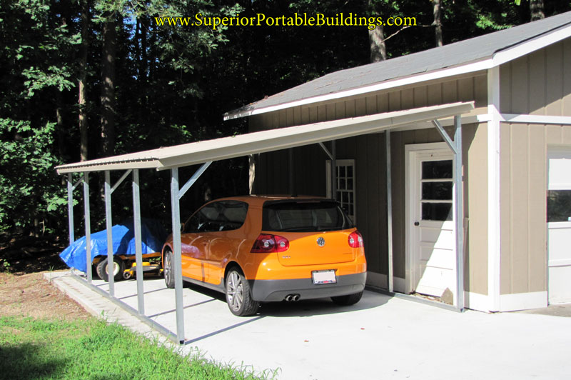 Vertical roof metal awning for Single slope carport