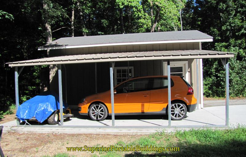 Metal Car Awnings : Vertical roof metal awning