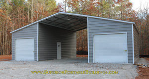 42 ft wide x 31 ft long Steel Barn
