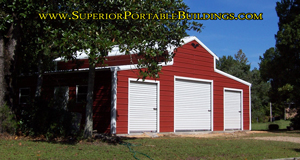 Barn with 3 garage doors