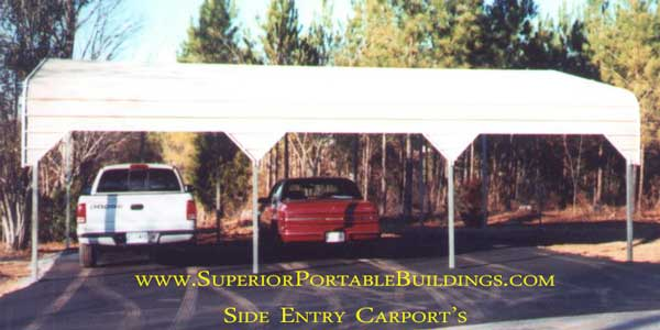 Side Entrance Carports : Portable metal carports for sale free delivery