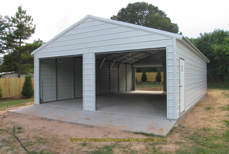 Metal carport garage kit