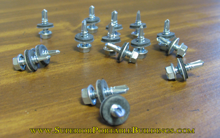 1/4 tek metal building screws