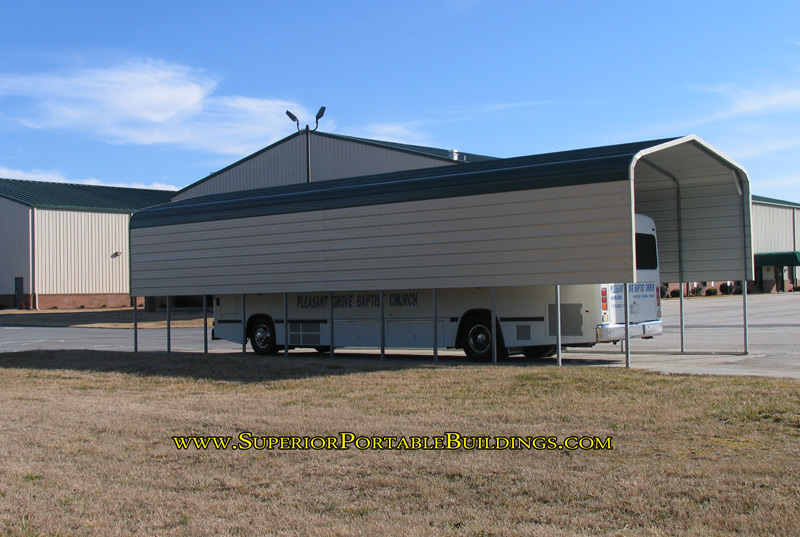 Carports for buses