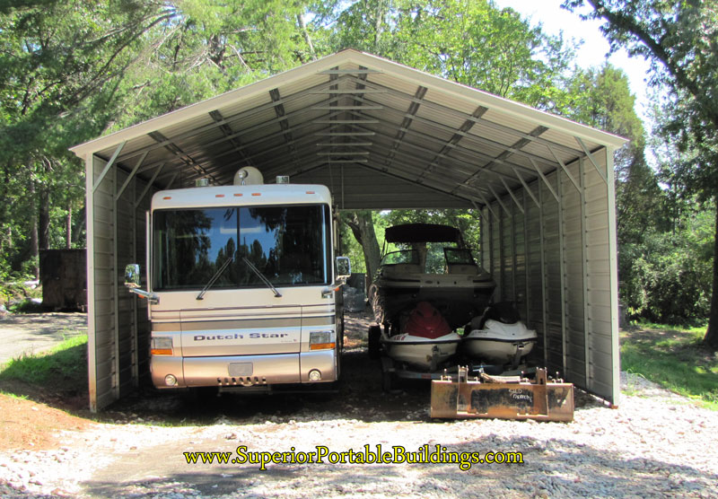 rv carports carports for recreational vehicles. Black Bedroom Furniture Sets. Home Design Ideas