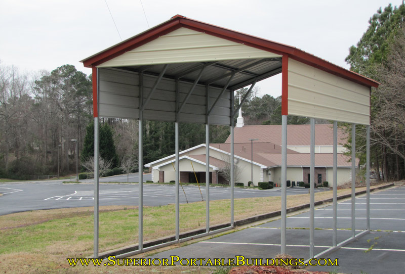 Vertical Roof Metal Carport : Vertical roof steel carport vc