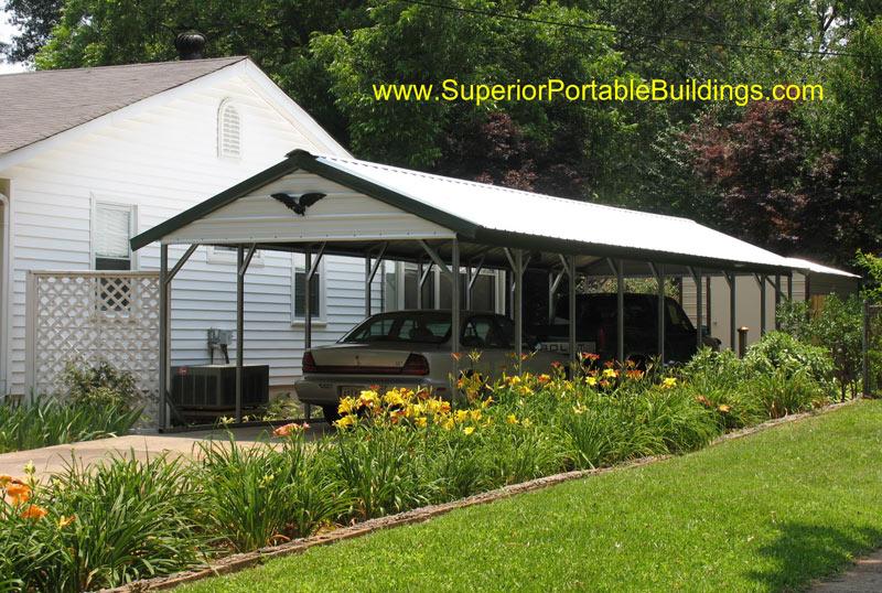 Metal Rv Carport Vertical Roof : Vertical roof steel carport vc