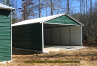 18 x 20 x 7 Steel carport with three side enclosed