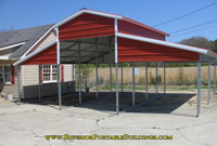 steel carport with lean tos