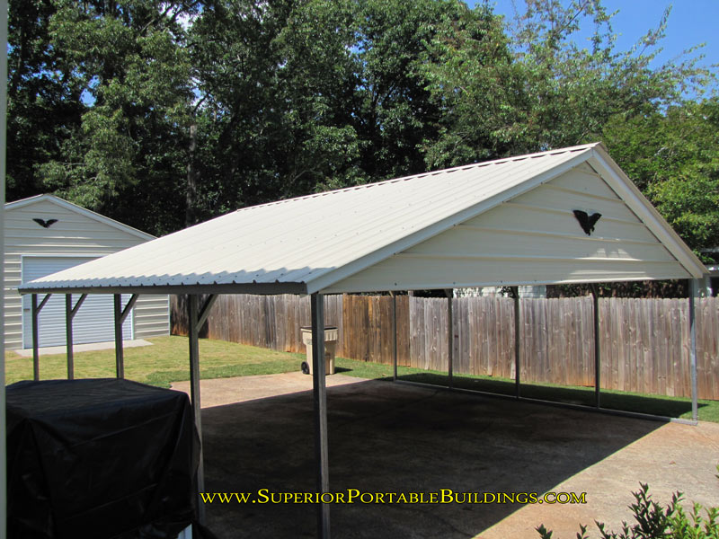 Vertical roof steel carport vc 4 for Gable roof carport price