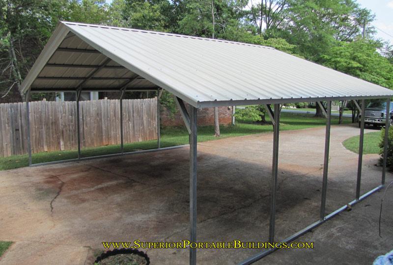 Vertical Roof Carport : Vertical roof steel carport vc
