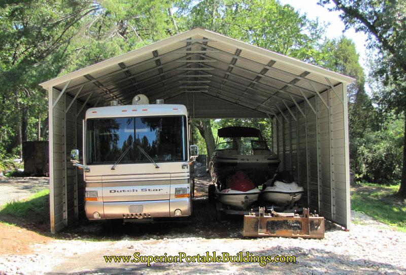 14 24 Metal Carport : Vertical roof steel carport vc
