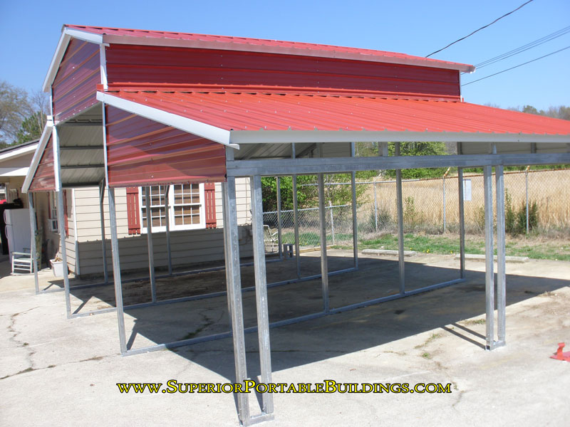 Lean To Carports Style : Vertical roof steel carport vc