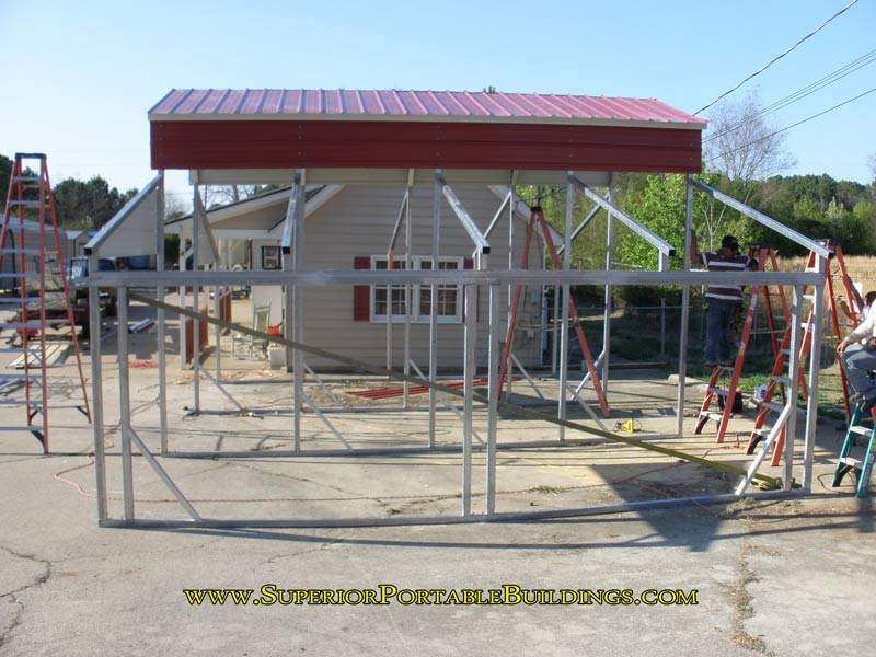framing a steel carport