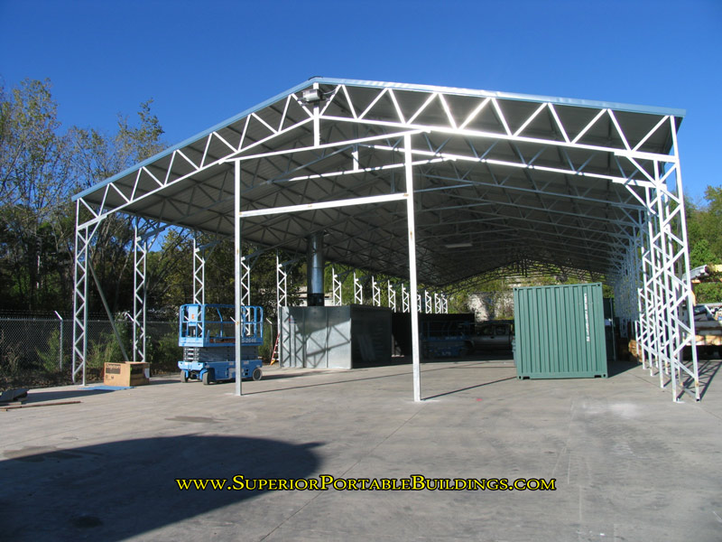 steel carport end wall door frame out