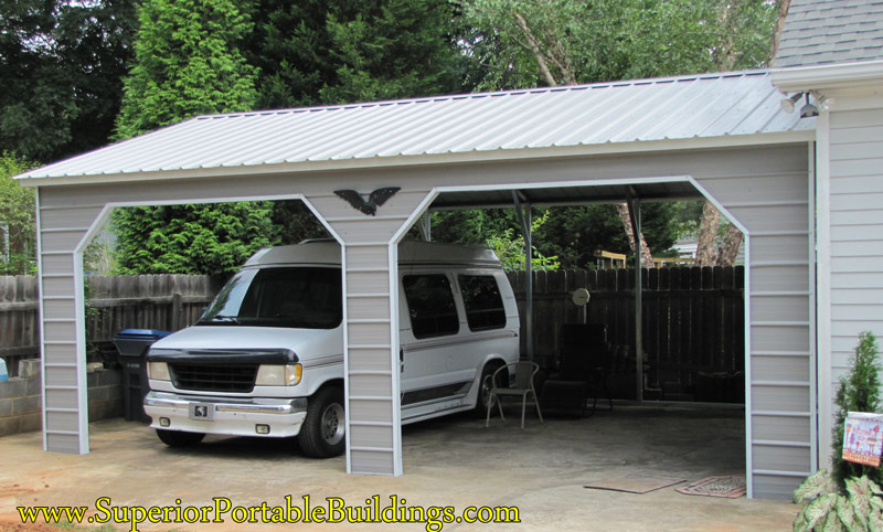 Vertical Roof Steel Carport. VC-12