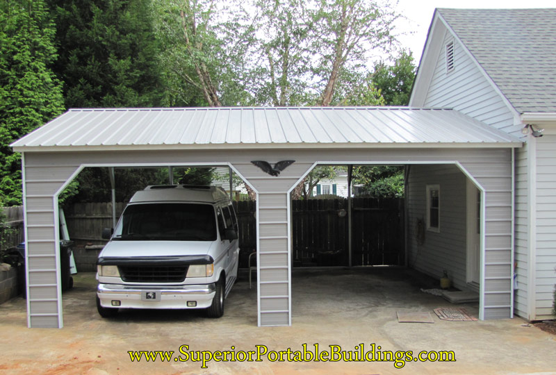 Side Entrance Carports : Vertical roof steel carport vc