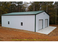 40' wide x 50' steel garage
