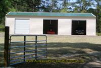 The superior steel garage for 30 foot wide garage door