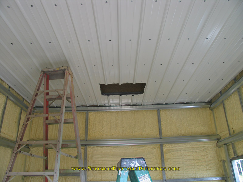 installing interior metal walls