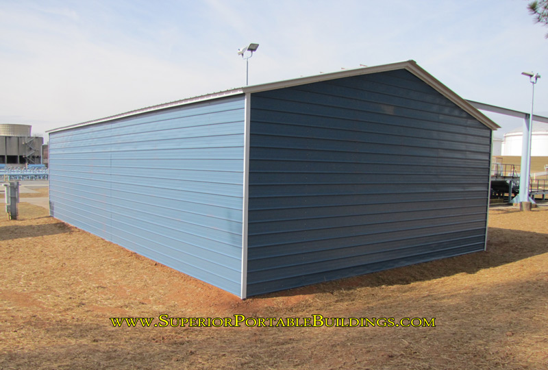 30 x 50 x 12 steel pipeline garage side